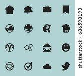 set of 16 editable web icons....