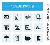 set of 12 editable investment...