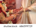 indian wedding rituals  bengali ... | Shutterstock . vector #686599729