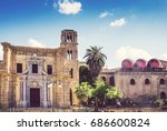 palermo  italy  san cataldo... | Shutterstock . vector #686600824