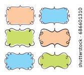 vintage badge design for band ... | Shutterstock .eps vector #686601310