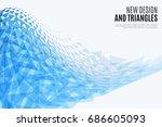 abstract vector design... | Shutterstock .eps vector #686605093