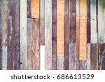 vintage wood plank background | Shutterstock . vector #686613529