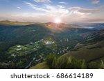 sanatorium in the mountains in... | Shutterstock . vector #686614189