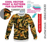 vector layout  sublimation...   Shutterstock .eps vector #686614630