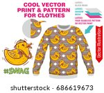 vector sublimation print for... | Shutterstock .eps vector #686619673