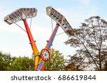 extreme speed head over heels...   Shutterstock . vector #686619844