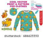 vector sublimation print for... | Shutterstock .eps vector #686625553
