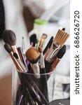 makeup brushes macro  | Shutterstock . vector #686626720