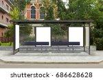blank billboard mockup inside... | Shutterstock . vector #686628628