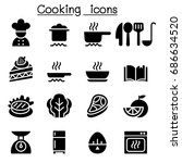 cooking   kitchen icons | Shutterstock .eps vector #686634520