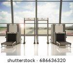 3d Rendering Airport Security...