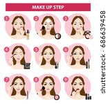 how to make up step vector... | Shutterstock .eps vector #686639458