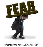 sad man in business suit... | Shutterstock . vector #686641684