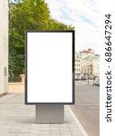blank vertical street billboard ... | Shutterstock . vector #686647294