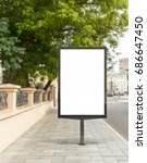 blank vertical street billboard ... | Shutterstock . vector #686647450