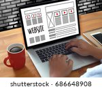 web design layout sketch... | Shutterstock . vector #686648908