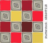 seamless mosaic pattern.... | Shutterstock .eps vector #686649118