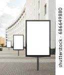 three blank vertical street... | Shutterstock . vector #686649880