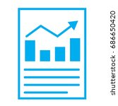 financial report or income...   Shutterstock .eps vector #686650420