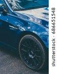 bmw m3 e92 interlagos blue... | Shutterstock . vector #686651548