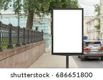blank vertical street billboard ... | Shutterstock . vector #686651800