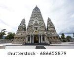 thailand temple wat chong kham... | Shutterstock . vector #686653879