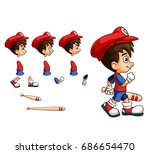 mobile game 2d assets  ... | Shutterstock .eps vector #686654470