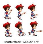 mobile game 2d assets  ... | Shutterstock .eps vector #686654479