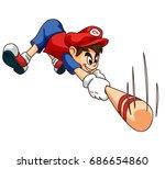 mobile game 2d assets  ... | Shutterstock .eps vector #686654860