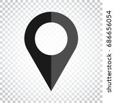 pin icon vector. location sign... | Shutterstock .eps vector #686656054