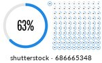 set of circle percentage... | Shutterstock .eps vector #686665348
