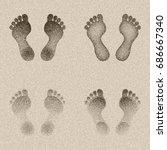 footprints in the sand  vector... | Shutterstock .eps vector #686667340