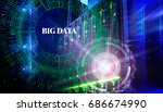 big data concept. servers and... | Shutterstock . vector #686674990