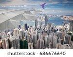 Top View Of Hong Kong  Kowlon...