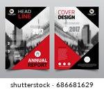 annual report design  template... | Shutterstock .eps vector #686681629