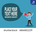 happy businessman talking into... | Shutterstock .eps vector #686682229