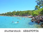 incekum beach  marmaris  turkey ... | Shutterstock . vector #686690956