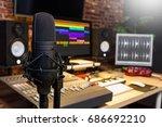condenser microphone in digital ... | Shutterstock . vector #686692210