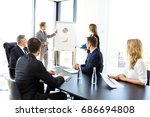 group of business people at... | Shutterstock . vector #686694808