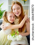 mother and daughter | Shutterstock . vector #686698870