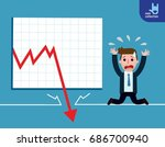 businessman be sad on the floor ... | Shutterstock .eps vector #686700940