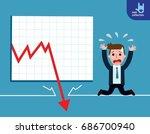 businessman be sad on the floor ... | Shutterstock .eps vector #686700940