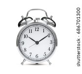 old chrome fashioned alarm... | Shutterstock . vector #686701300