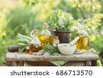 medicinal plants from the...   Shutterstock . vector #686713570