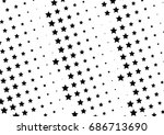 abstract halftone dotted... | Shutterstock .eps vector #686713690