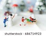 miniature people  colorful... | Shutterstock . vector #686714923