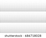 abstract halftone dotted... | Shutterstock .eps vector #686718028