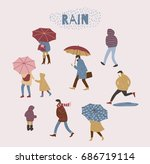 vector illustration of people... | Shutterstock .eps vector #686719114