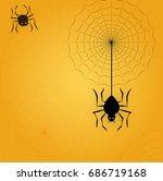 happy halloween poster. vector... | Shutterstock .eps vector #686719168